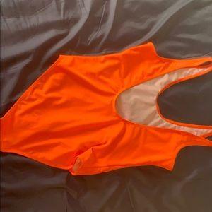 Boohoo Swim - Bright Orange Bathing Suit